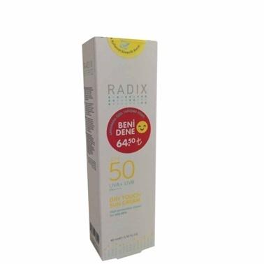 Radix SPF50 Dry Touch Sun Cream 40ml Renksiz